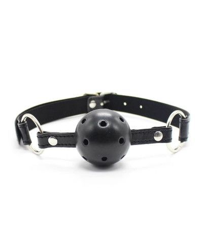 Black Breatheble Ball Gag - Lovelyplay